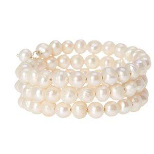 Jewelry - Freshwater Pearl 8mm NWT wrap bracelet
